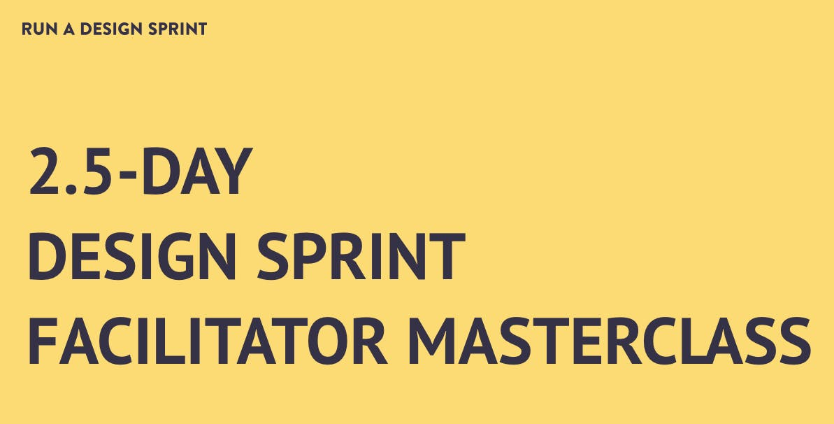 2.5-Day Design Sprint Facilitator Masterclass in Berlin