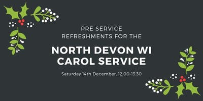 North Devon WI Carol Service - pre service refreshments