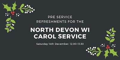 North Devon WI Carol Service - pre service refreshments