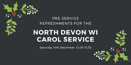 North Devon WI Carol Service - pre service refreshments tickets