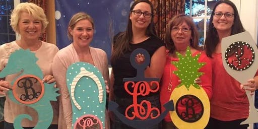 Courtney's Monogram Paint Party