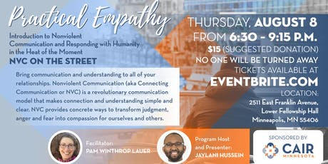 Practical Empathy – Introduction to Nonviolent Communication and Responding with Humanity in the Heat of the Moment – NVC on the Street tickets