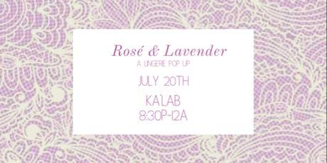 Rosé & Lavender tickets