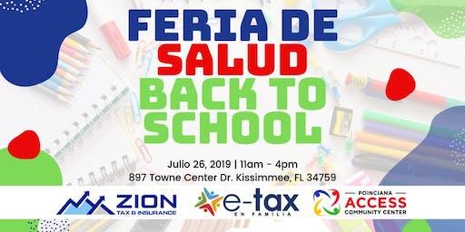 Feria De Salud BACK TO SCHOOL