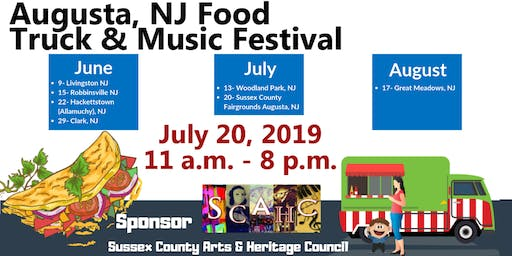 July 20th - Sussex County Fairgrounds Village Food Truck and Music Festival