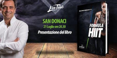 SAN DONACI | Presentazione libro Formula HIIT  biglietti