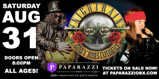 Guns N' Roses Tribute: Nightrain! LIVE at Paparazzi OBX!