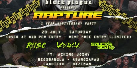 BLACKPLAGUE RAPTURE PARTY @ GET JUICED tickets