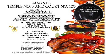 Magnus Annual Joint Crabfeast and Cookout tickets