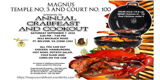 Magnus Annual Joint Crabfeast and Cookout
