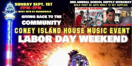 2nd Annual School Supply Giveaway Frankie Paradise tickets