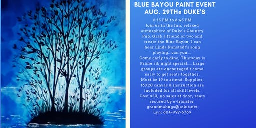 Blue Bayou Paint Event