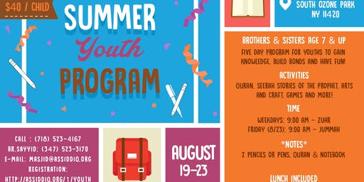 Summer Youth Program 2019