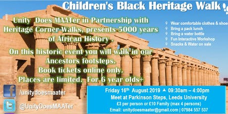 Children's Black Heritage Walk tickets