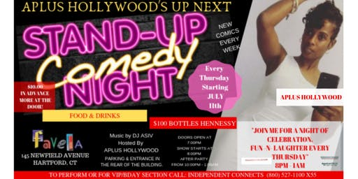 APLUS HOLLYWOOD'S UP NEXT COMEDY SHOW & AFTER PARTY! HOSTED BY RAHSHAUD