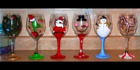 Christmas in July Painted Glasses
