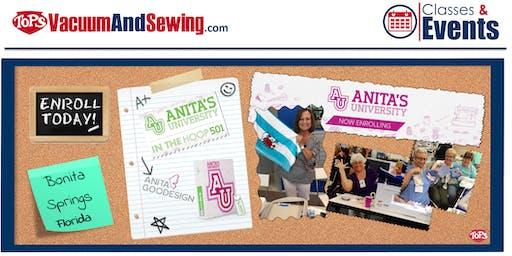 Anita Goodesign University 501- In The Hoop | Bonita Springs, Florida