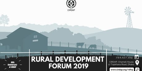 CIRDAP Rural Development Forum 2019 tickets