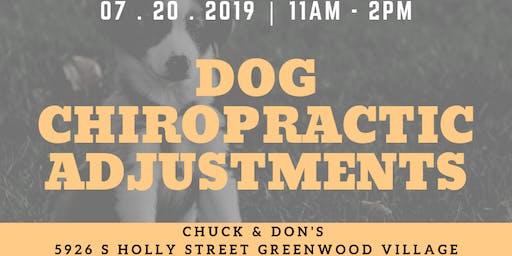 Dog Chiropractic Adjustments