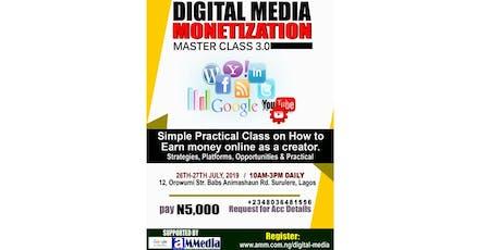 Digital Media Monetization Master Class 3.0 tickets