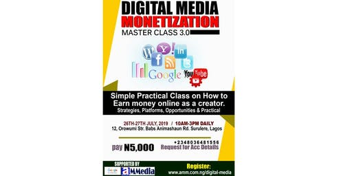 Digital Media Monetization Master Class 3.0