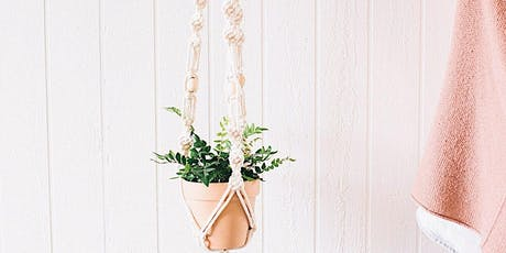Macrame Plant Hanger with Chelsea Virginia tickets