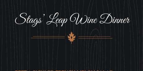 Stags' Leap Wine Pairing Diner tickets