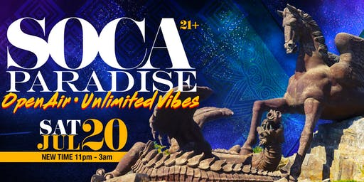 Soca Paradise | Sat 20th July @ Pegasus Gulfstream Park | Open Air Unlimited Vibes