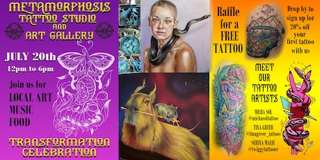 Transformation Celebration at Metamorphosis Tattoo and Art Gallery tickets