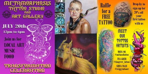 Transformation Celebration at Metamorphosis Tattoo and Art Gallery