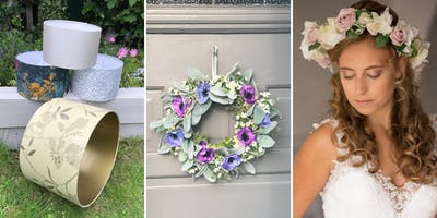 Drum Lampshade or Summer Floral Wreath or Flower Crown Workshop