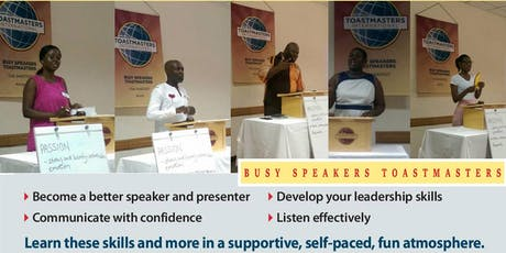 Toastmasters Meeting | Improve your Public Speaking Skills tickets