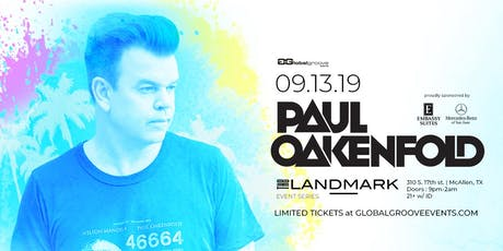 Landmark Event Series: Paul Oakenfold tickets