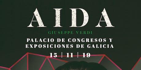 AIDA, G.Verdi en Santiago de  Compostela entradas