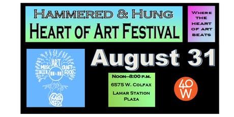 Hammered & Hung Heart of Art Festival tickets