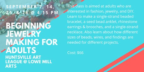Beginning Jewelry Making for Adults tickets