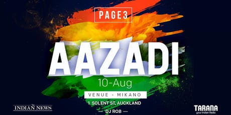 PAGE3 AAZADI tickets