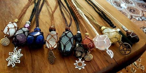 Begginers Macrame Crystal Necklace Workshop