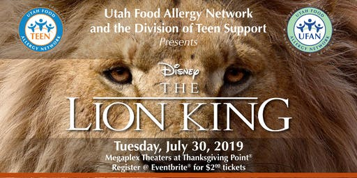 Utah Food Allergy Network-Family and Teen Movie Night