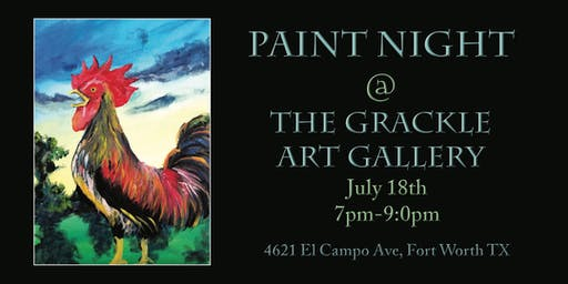 Paint Night at The Grackle Art Gallery!
