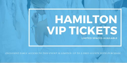 Opportunity Bridal VIP Early Access Hamilton Pop Up Wedding Dress Sale