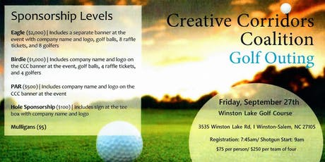 2nd Annual Creative Corridors Coalition - Golf Outing - 2019 tickets
