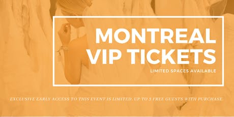 Montreal Pop Up Wedding Dress Sale VIP Early Access tickets