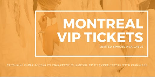 Montreal Pop Up Wedding Dress Sale VIP Early Access