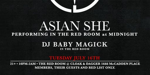 Cloak & Dagger : Live performance by Asian She