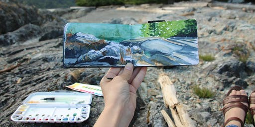 2-Day Art Camp: Creative Journaling with Watercolour & Wallace Island Plein-Air Painting Adventure