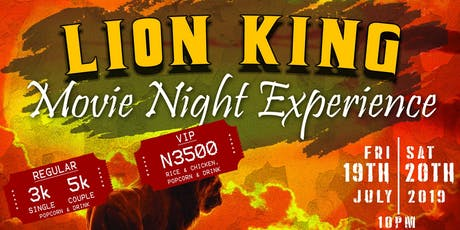 LION KING PREMIERE MOVIE NIGHT EXPERIENCE tickets