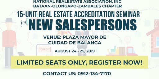 15 Unit Real Estate Accreditation Seminar for New Salesperson