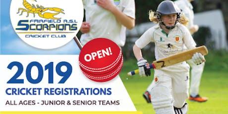 2019 Cricket Registration - Fairfield RSL Cricket Club tickets