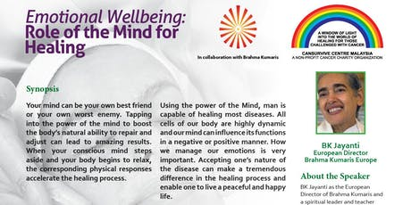 Emotional Wellbeing: Role of the Mind for Healing tickets